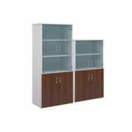 Duo Glazed Top Combination Cupboard