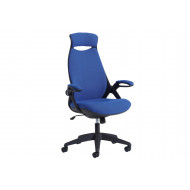 Next-Day Roche Fabric High Back Managers Chair With Headrest Blue