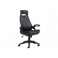 Roche Leather High Back Managers Chair With Headrest
