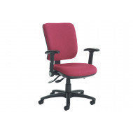 Polnoon High Back Operator Chair With Folding Arms