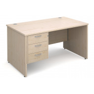 Next-Day Value Line Deluxe Panel End Clerical Desk 3 Drawers