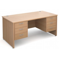 Value Line Deluxe Panel End Desk 3+3 Drawers