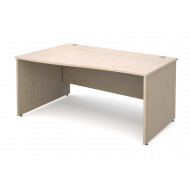 Value Line Deluxe Panel End Left Hand Wave Desk