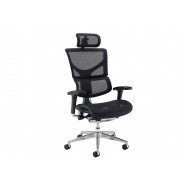 Merideth Ergonomic 24HR Mesh Operator Chair (With Headrest)