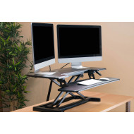 Next-Day Height Adjustable Sit And Stand Desk Converter