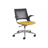 Bourke Operator Chair With Chrome Base And Black Shell