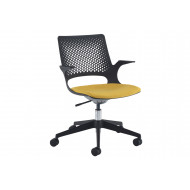 Bourke Operator Chair With Black Base And Black Shell