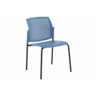 Yarra 4 Leg Perforated Back Stacking Chair