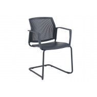 Yarra Visitor Chair With Perforated Back