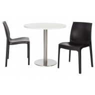 Next-Day Culver 3 Piece Round Dining Set
