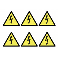 Sheet Of Safety Labels (Electricity)