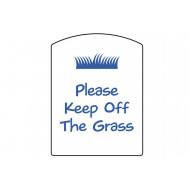 Please Keep Off The Grass School Sign