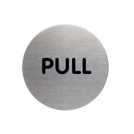 Pull Circular Picto Door Sign