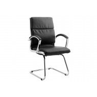 Andorra High Back Leather Faced Visitor Chair