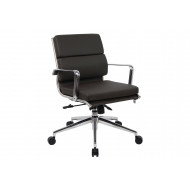 Formosa Medium Back Black Leather Faced Executive Chair