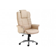 Preto Cream Leather Faced Executive Chair