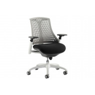 Warp White Frame Grey Mesh Back Operator Chair