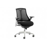 Warp White Frame Black Mesh Back Operator Chair