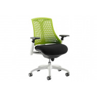 Warp White Frame Green Mesh Back Operator Chair