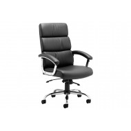 Crave High Back Black Leather Faced Executive Chair