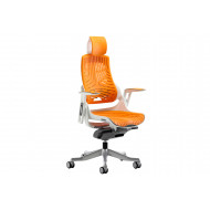 Zephyr High Back Orange Executive Operator Chair With Headrest