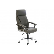 Next-Day Penza high back executive brown leather chair