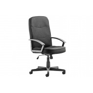 Next-Day Doha Fabric Executive Chair Black