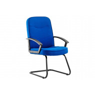 Next-Day Doha Fabric Visitor Chair Blue