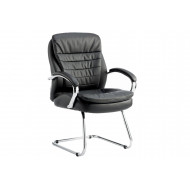 Next-Day Babel Leather Visitor Chair Black