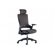 Next-Day Perotti fabric executive chair with headrest