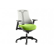 Warp Black Frame White Back Operator Chair