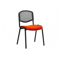 ISO Black Frame Mesh Back Conference Chair (Tabasco Red)