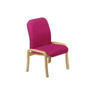 Turnberry Wooden Reception Chair With No Arms