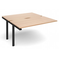 Prime Back To Back Add On Bench Desk (Black Legs)