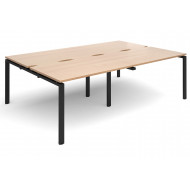 Next-Day Prime Back To Back Double Bench Desk (Black Legs)