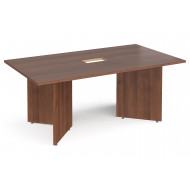 All Walnut Power Ready Rectangular Boardroom Table
