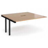 Prime Power Ready Boardroom Add On Table (Black Frame)