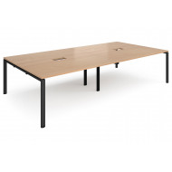 Next-Day Prime Power Ready Rectangular Boardroom Table (Black Frame)