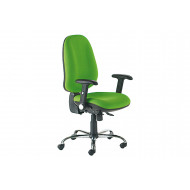 Bradford Extra High Back Synchro Operator Chair With Inflatable Lumbar