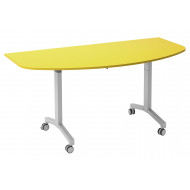 Solero Flip Top D-End Meeting Table (Yellow)