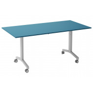 Solero Flip Top Rectangular Meeting Table (Light Blue)