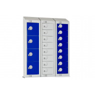 Elite Wall Mounted Personal Effects Locker With Sloping Top