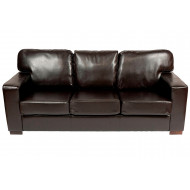 Krishna 3 Seater Faux Leather Chair