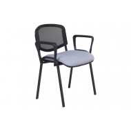 Pack of 4 Sevron Mesh Back Conference Armchairs