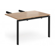 Add On Double Return Desk For Prime Desks (Black Legs)