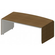 Archadius Bow Fronted Managerial Desk