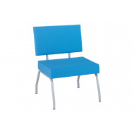 Dayton Fabric Reception Chair With Square Edges
