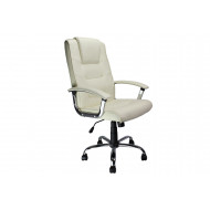 Next-Day Skye High Back Cream Leather Faced Executive Chair