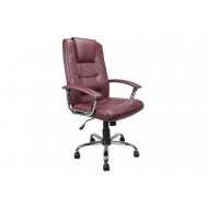 Skye High Back Burgundy Leather Faced Executive Chair