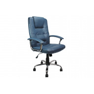 Skye High Back Blue Leather Faced Executive Chair